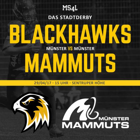 Münster Blackhwaks Münster Mammuts Derby Football